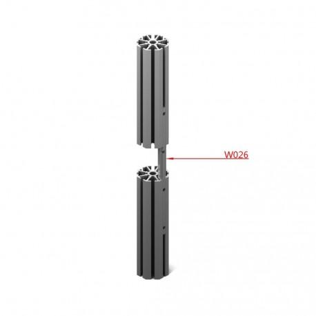 Profilo connettore intracava L. 20 cm 9 fori M4